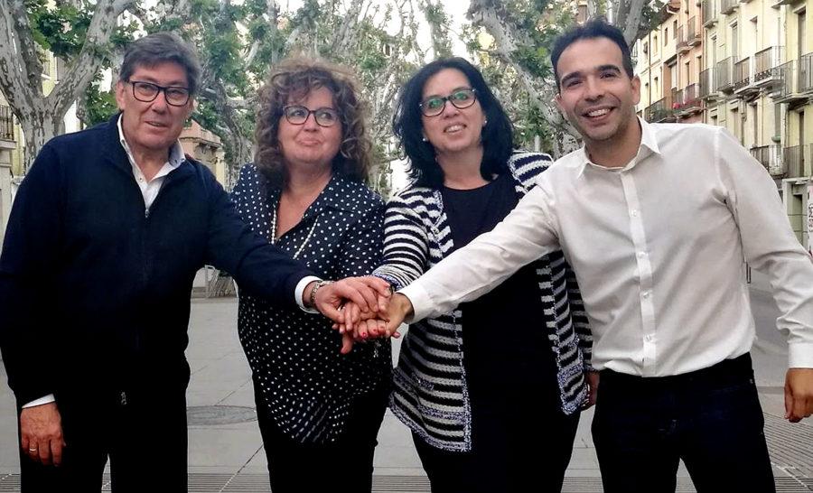 Arturo Aliaga, María Jesús Morera, Eli Terán y Jesús Guerrero