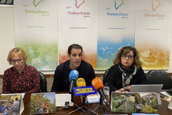Sandra Navarro, Daniel Gracia y María Jesús Morera. Ronda Somontano.
