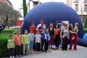 Asistentes al Planetario de la UNED. Foto JLP.