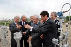 Biel y Aliaga en la inauguración del gasoducto. Foto S.E.