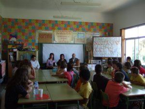 La consejera de Cultura, la alcaldesa de Peralta y el director provincial de Educación en Peralta. Foto S.E.