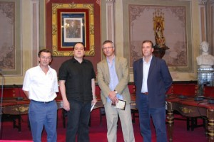 Méndez y Chivite junto a Sánchez y Cosculluela. Foto JLP.