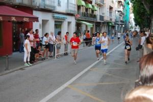 Los periodistas también corrieron la Milla Solidaria. Foto Rita Piedrafita.