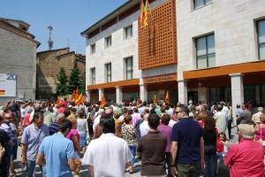 Más de doscientas personas participaron en la concentración. Foto JLP.
