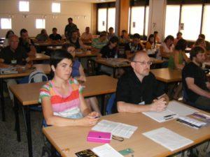 Alumnos del curso Arqueología experimental. Foto A.H.