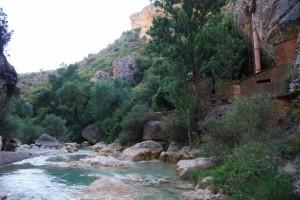 Río Vero en Alquézar, una zona de baños. Foto JLP.