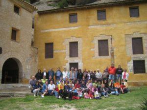 Vecinos de Aguas y Panzano en la ermita de San Cosme y San Damián. Foto S.E.