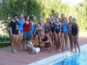 Nadadoras en El Grado.