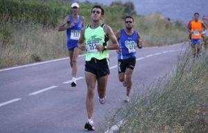 Los corredores en un momento de la carrera.