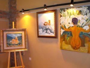 Exposición de cuadros. Foto D.M.