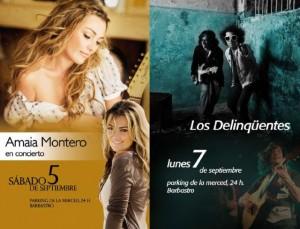 Amaia Montero y Los Delinqüentes actuarán en Barbastro