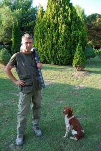 El cazador Julián Oliván. Foto JLP.