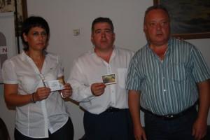 Vilarrubi con los representantes de Ibereco. Foto JLP.
