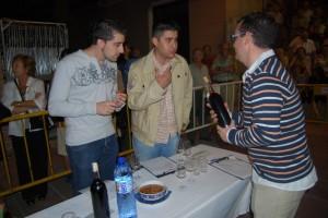 Los catadores de los vinos. Foto JLP.