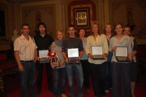 Ganadores del concurso de escaparates. Foto JLP.
