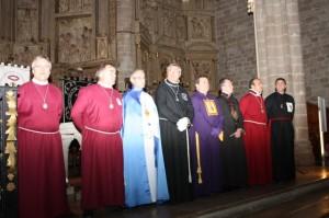 Junta Coordinadora de Cofradías de la Semana Santa de Barbastro. Foto R.S.