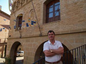Antonio Coms, alcalde de Castejón del Puente. Foto JLP.