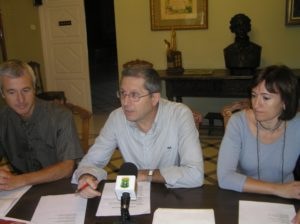Juan Sanz, Santiago Lisa y Ana Escartín. Foto S.E.