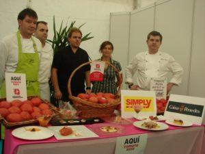 Taller culinario sobre el tomate rosa. Foto I.L.