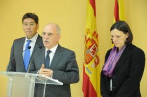 Larraz durante su conferencia de prensa. Foto S.E.