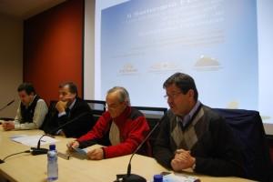 Los hermanos Masgrau, junto a Garrigós y Cosculluela. Foto JLP.