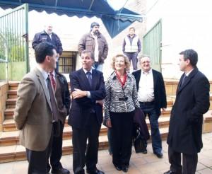 El presidente de la DPH y la alcaldesa de Graus. Foto S.E.