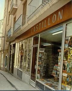 Fachada de la librería Castillón, en Barbastro.