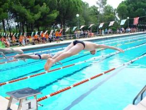 Competición de natación en las piscinas de Airon Club. Foto S.E.