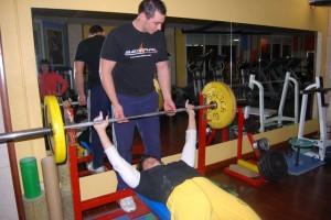 Lola Coscojuela durante un entrenamiento en el Zeus. Foto JLP.