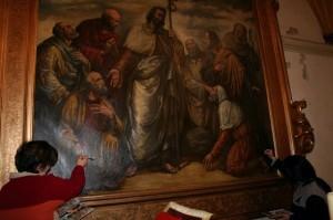 Uno de los cuadros restaurados. Foto S.E.