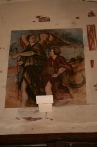 Pintura del siglo XVIII de la Almunia de San Juan. Foto S.E.
