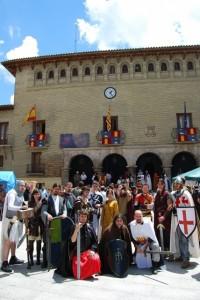 Senderos Legendarios animó la jornada templaria. Foto JLP.