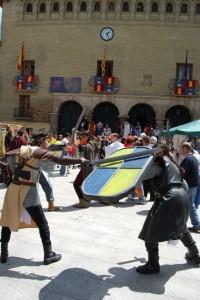 Senderos Legendarios recreó la batalla de Muret, donde murió Pedro II, padre de Jaime I. Foto JLP.