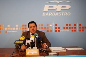 Ángel Solana, portavoz del PP en Barbastro. Foto JLP.