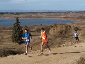 Ayyoub durante la carrera en Sariñena. Foto S.E.