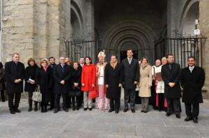 Los presidentes de las comunidades autónomas, el obispo y los príncipes. Foto S.E.