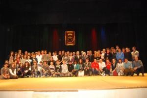 Foto de familia de los premiados. JLP.
