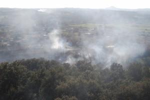 Zona afectada por el incendio. JLP.