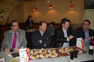 Autoridades en el Gran Hotel Ciudad de Barbastro. JLP.