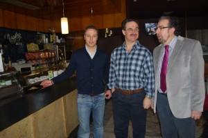 Hosteleros de Monzón con Roberto Pac. JLP.