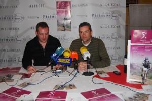 Javier Fillata, de Bodega Pirineos, y Antonio Escartín, del CCB, en la presentación de la prueba. JLP.