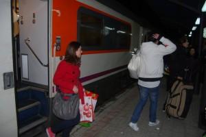 El tren a su llegada a Monzón. JLP.