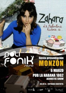 Zahara actuará en Monzón.