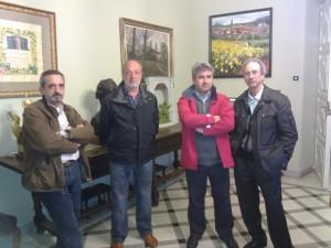 Integrantes del Club Aéreo de Barbastro. R.S.