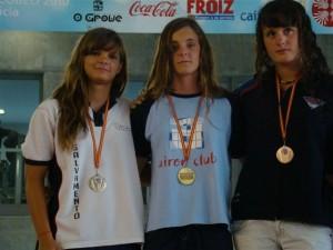Las medallistas de Monzón.