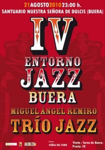 Cartel del concierto de jazz en Buera.