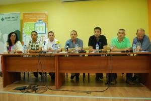 Rueda de prensa celebrada en Monzón. JLP.