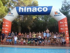 Los nadadores de Hinaco Monzón.