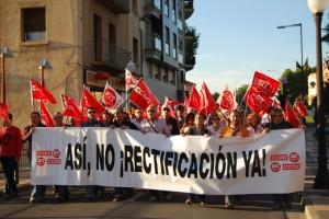 Manifestación por las calles de Monzón. JLP.