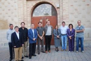 Los alcaldes junto a autoridades del Somontano. JLP.